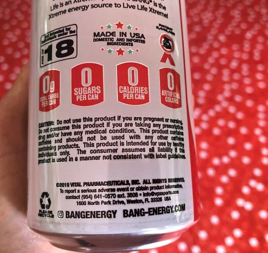 Bang warning labels