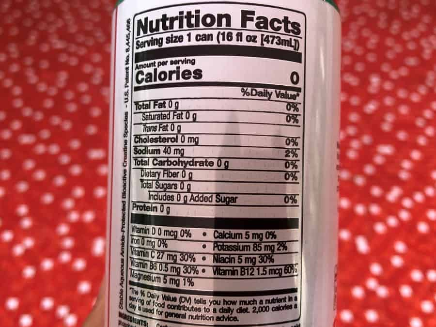 Bang Energy Drink Nutrition Facts