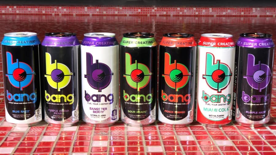 A series of Bang Energy Drink Flavors
