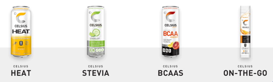 Celsius Fitness Drink Types