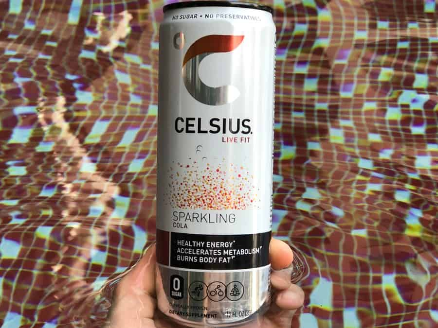 12 fl.oz can of Celsius Sparkling Cola