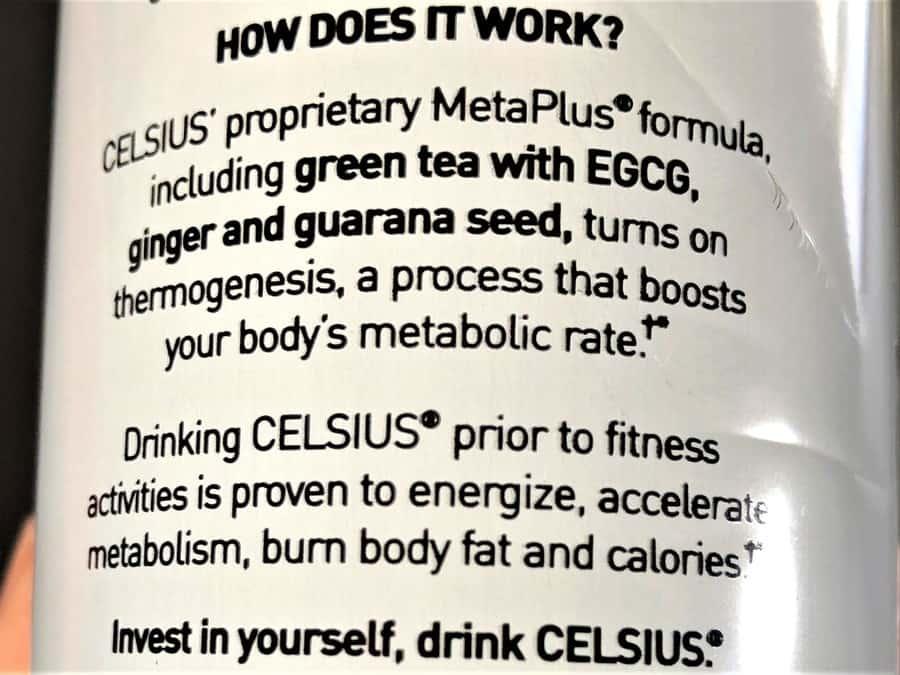Celsius Energy Drink promotional line