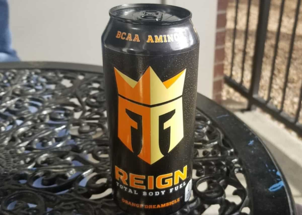 A 16 fl.oz can of Reign Energy