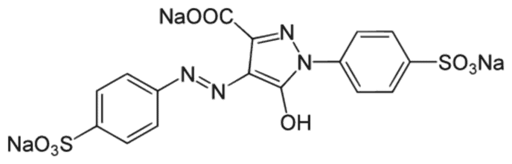 Chemical structure of Yellow 5