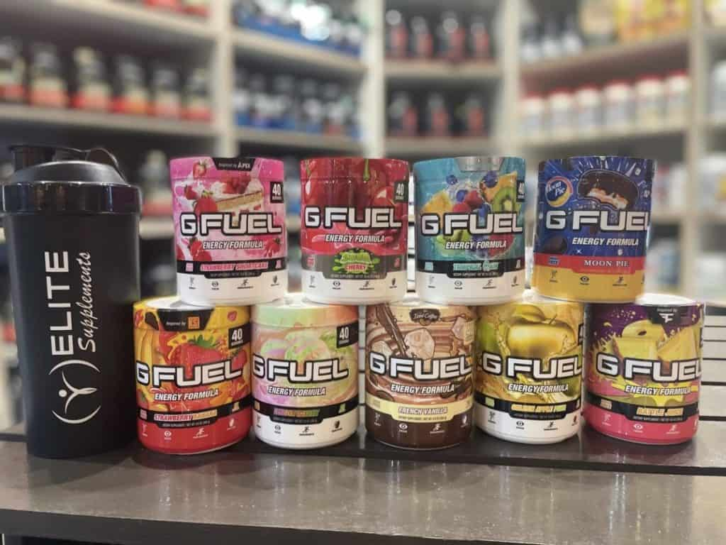 G Fuel Tubs and shaker cups