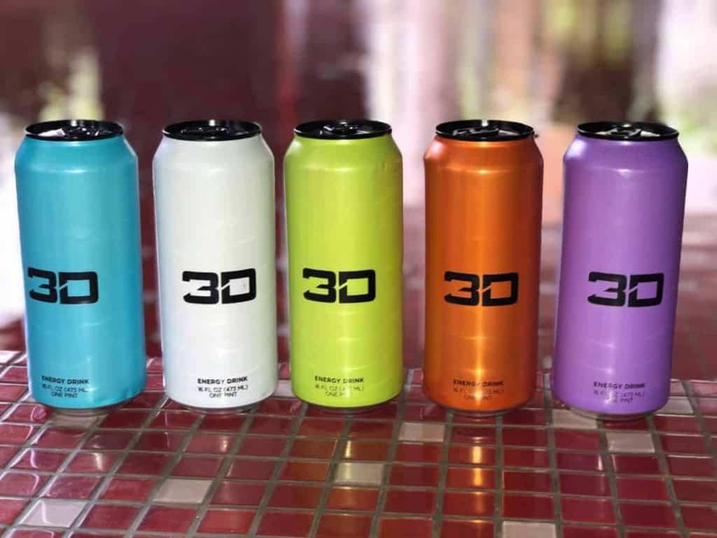 3D Energy Drink Flavors