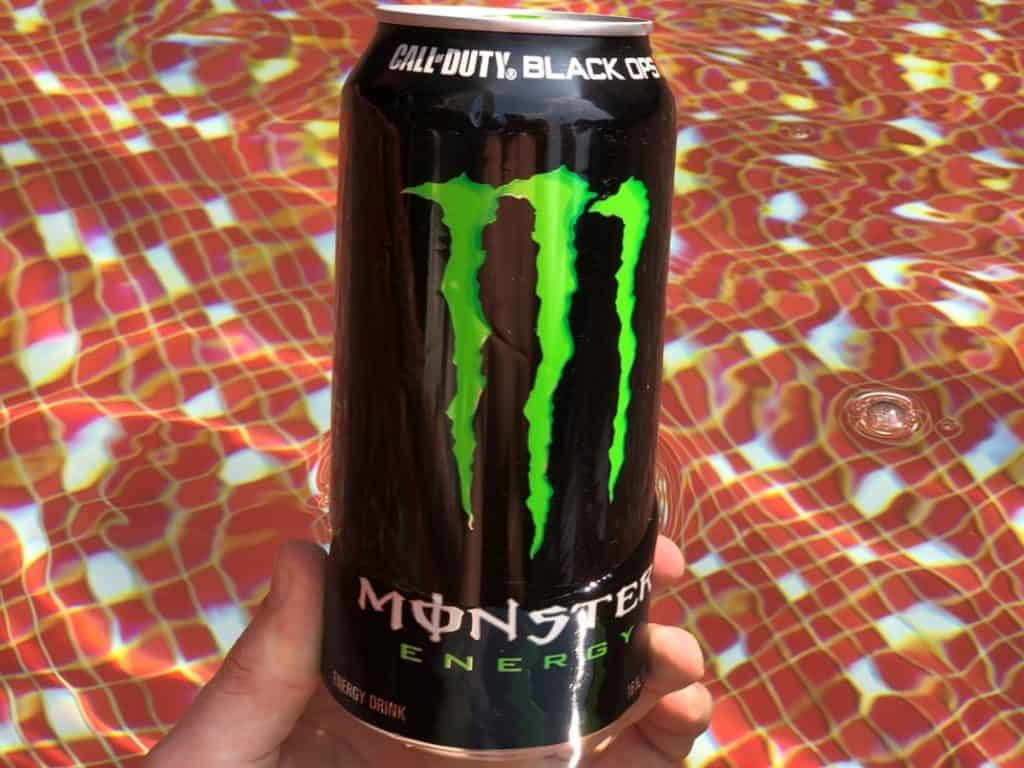 A can of Monster Energy.