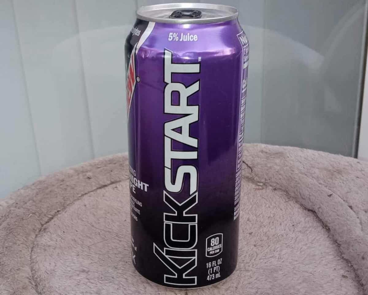 A picture of Mountain Dew Kickstart Can