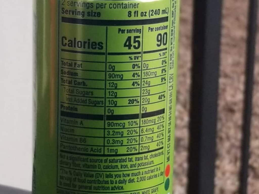 Nutritional value per 16 fl.oz of Game Fuel.