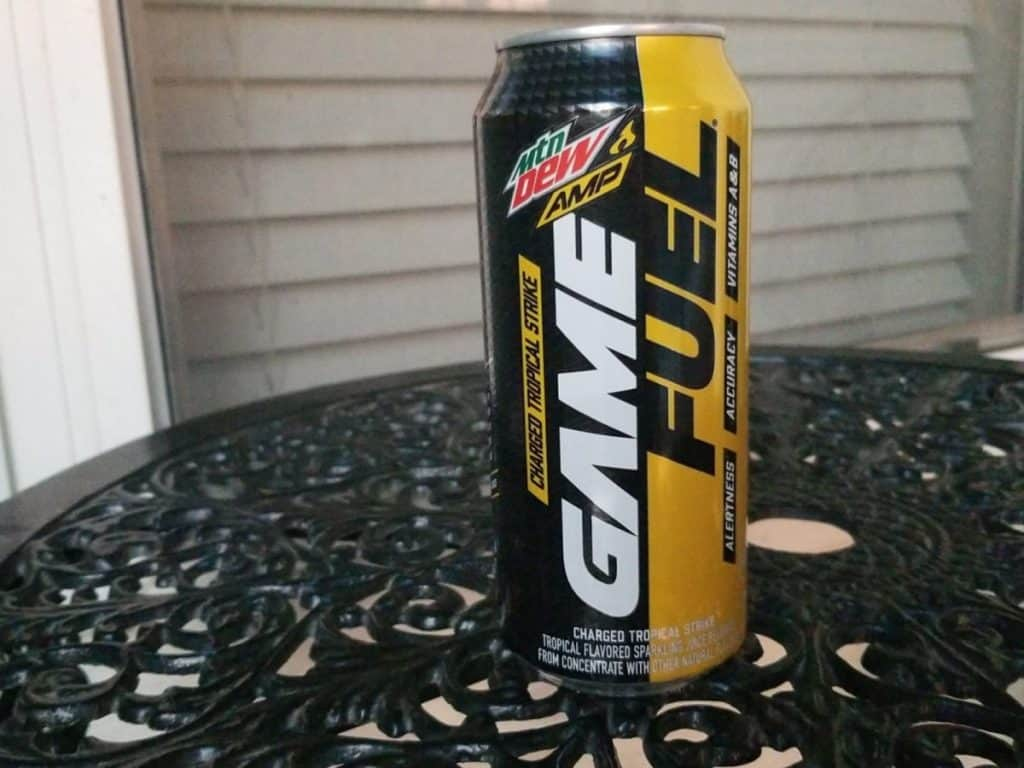 A can of Game Fuel energy drink