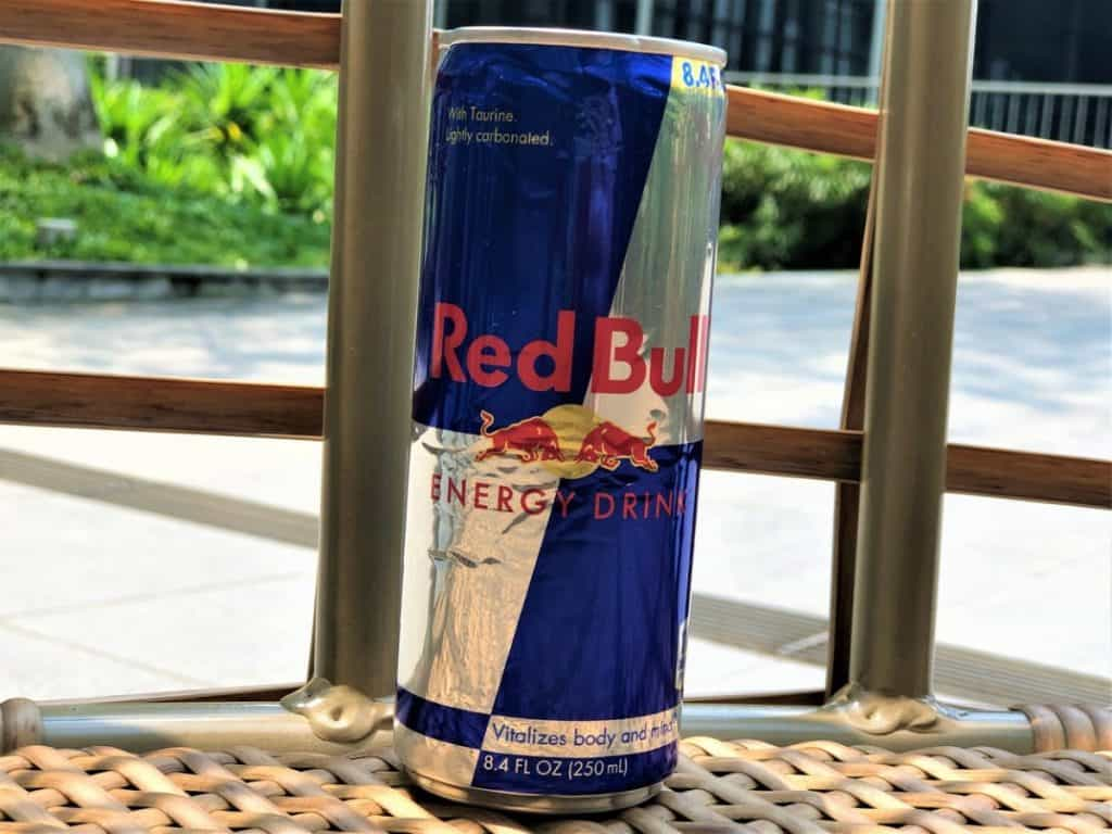 A can of Red Bull Energy Drink.