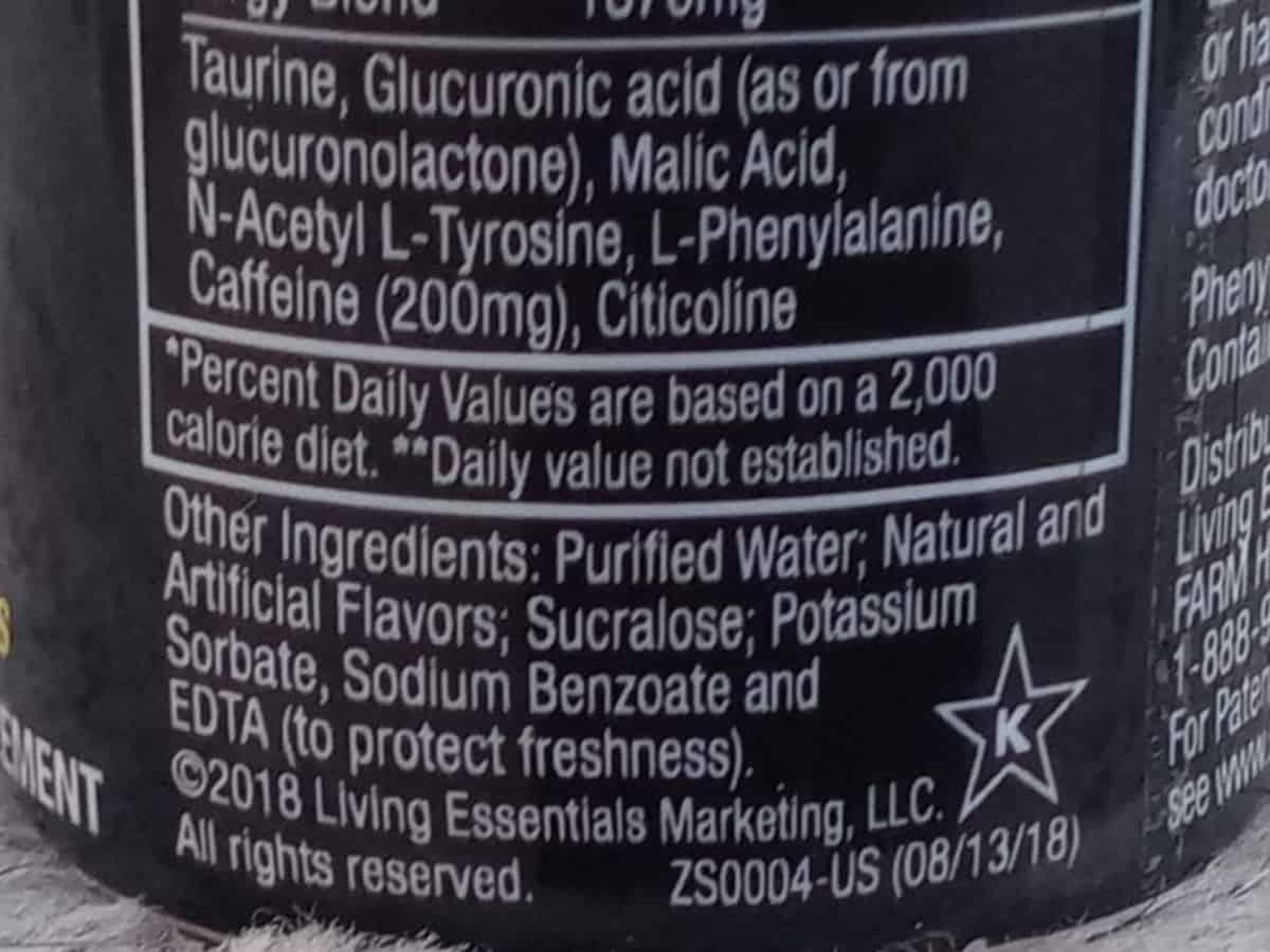 5 Hour Energy Ingredients