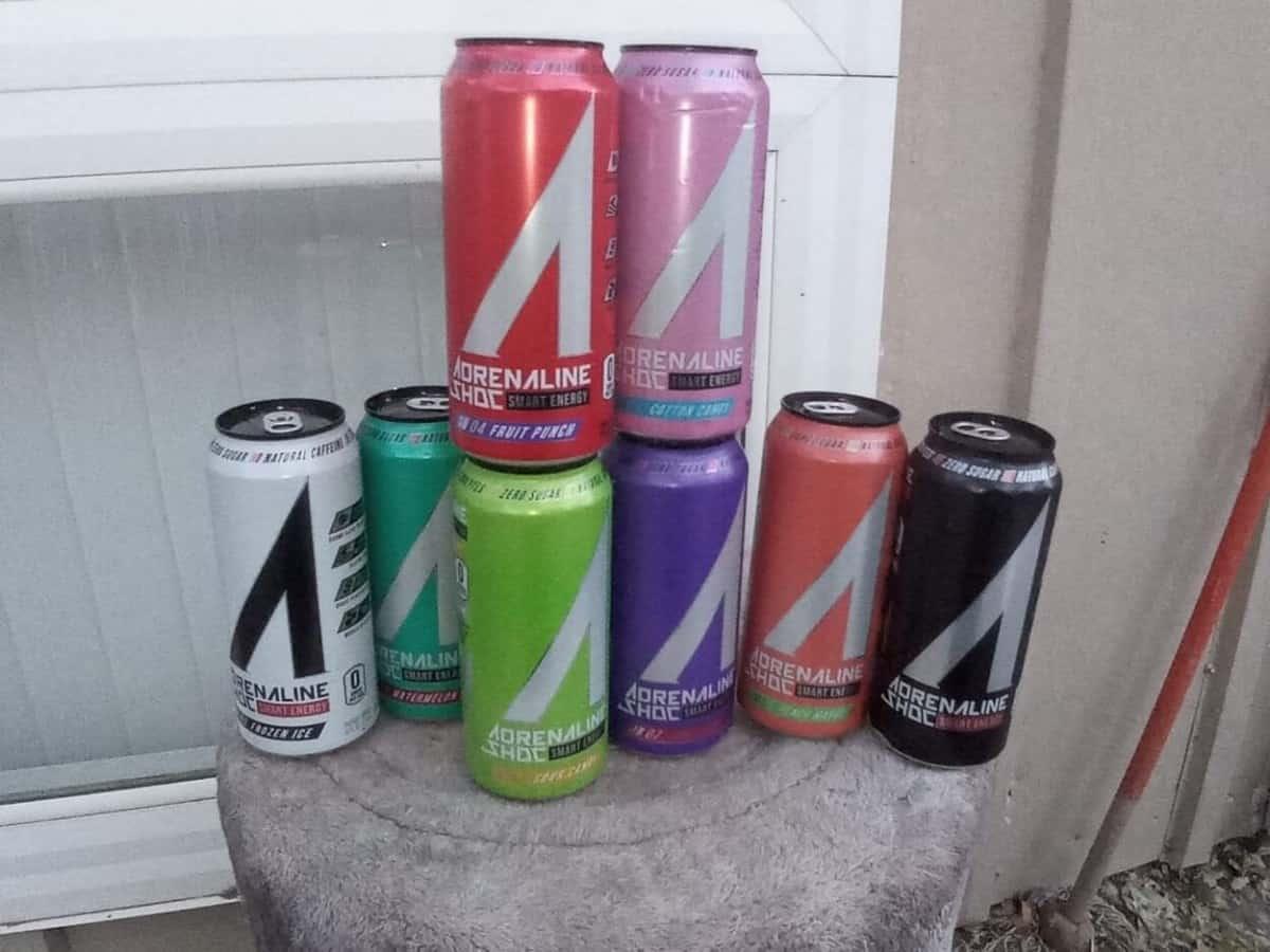 Different flavors of Adrenaline Shoc Energy