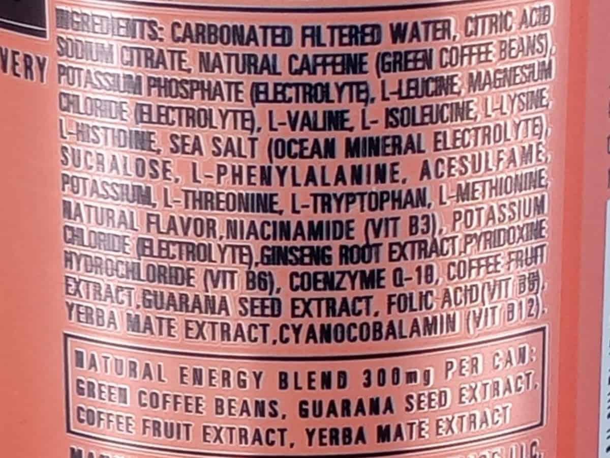 Adrenaline Shoc Energy Drink Ingredients