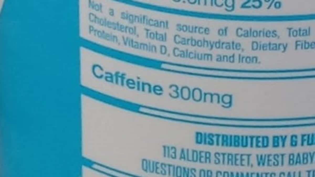 G Fuel Can caffeine content