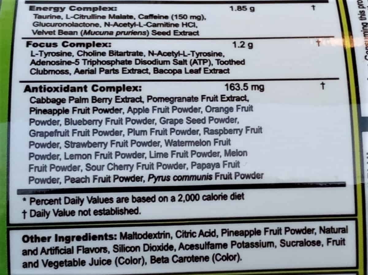 G Fuel Powder Ingredients List