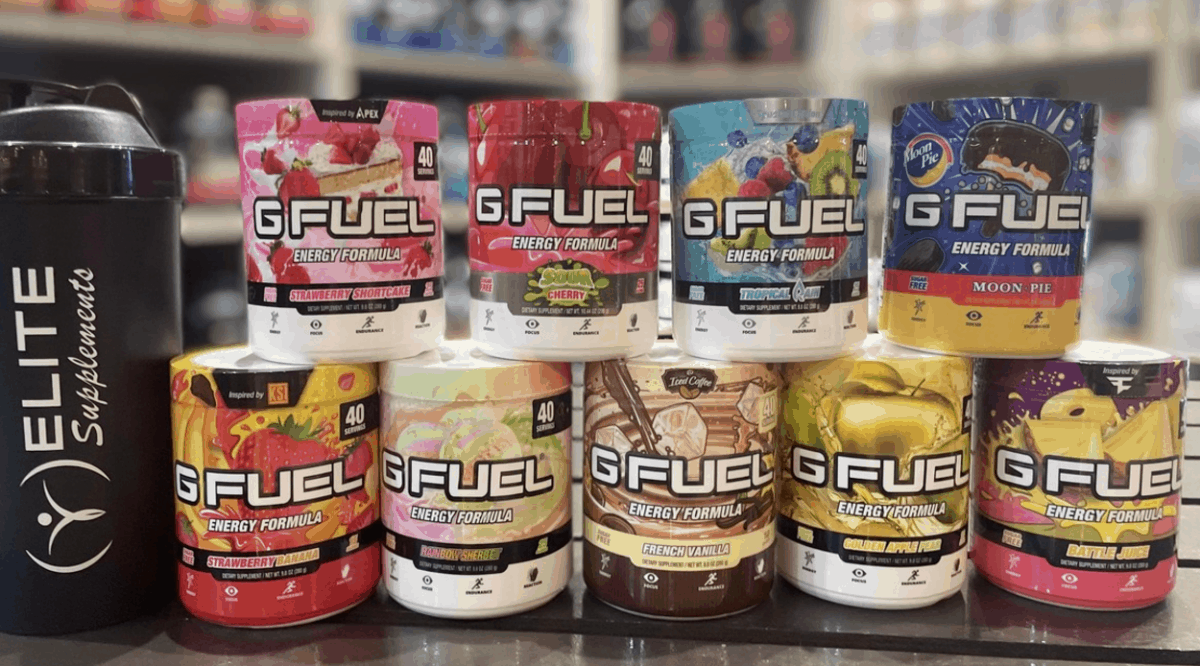 G Fuel tubs and shaker cup