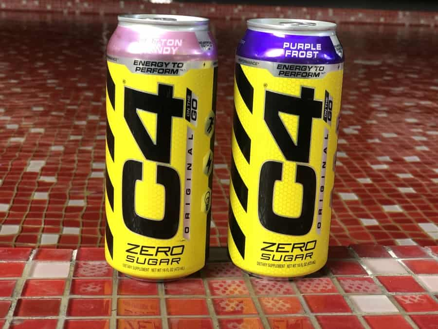C4 Energy drink cans