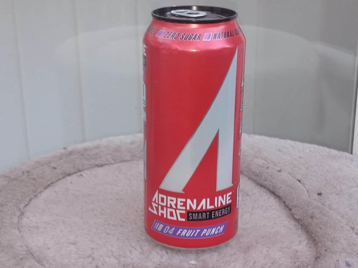 A can of Adrenaline Shoc