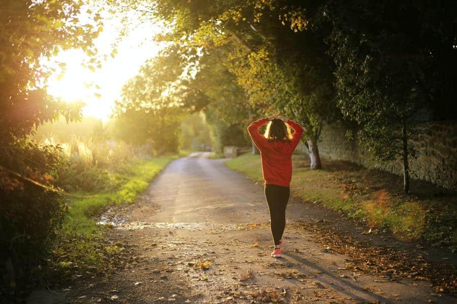 Girl going for an outdoor jog