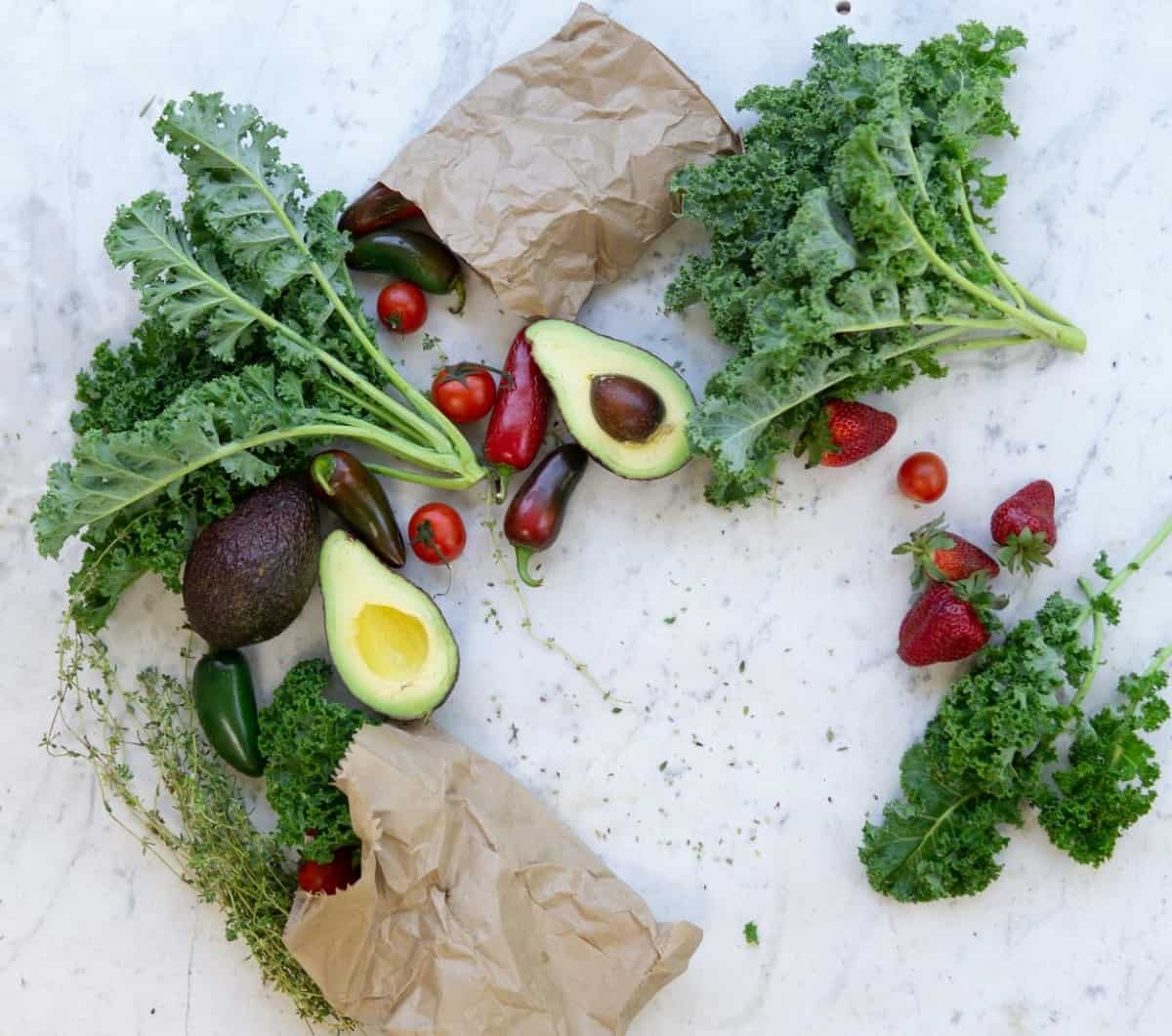 Kale and other veggies