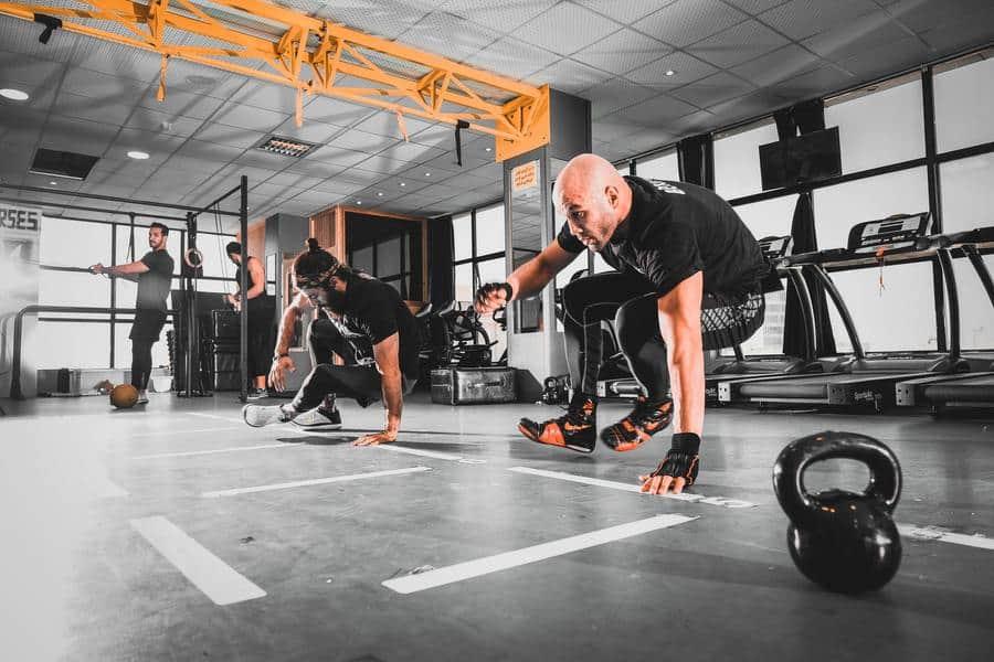 man in a black shirt training