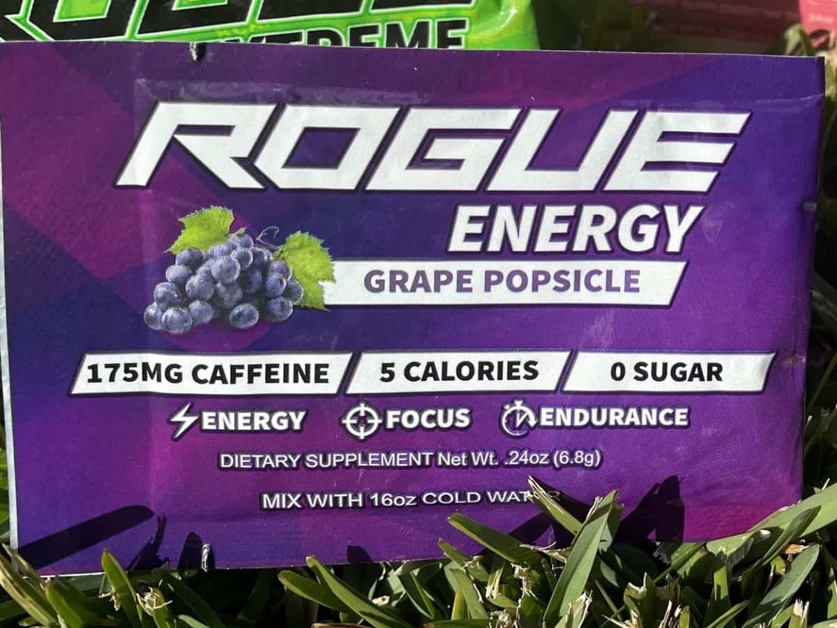 Rogue Energy Grape Popsicle.