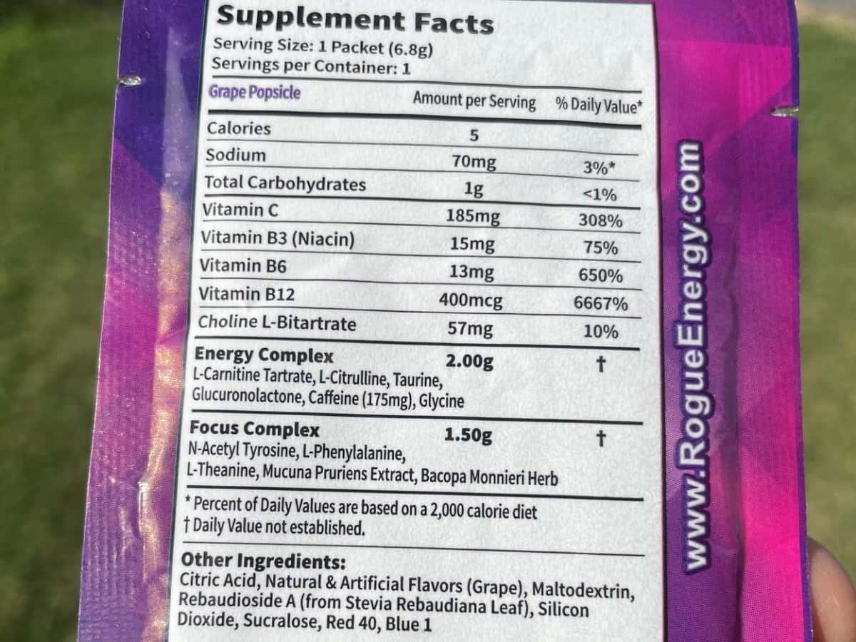 Rogue Grape Popsicle Flavor