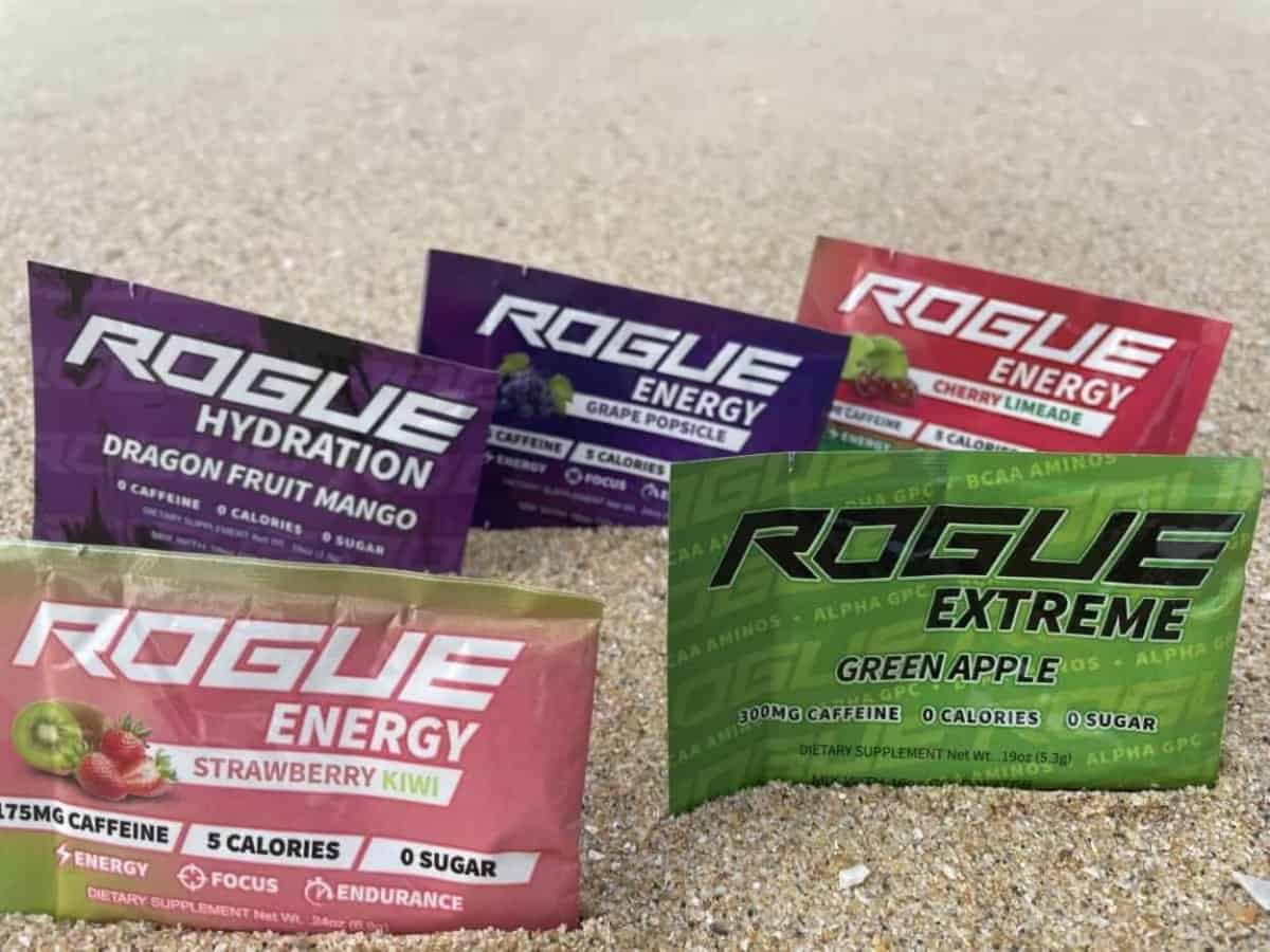 Different Flavors of Rogue Energy Drink