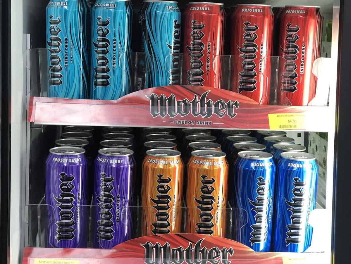 flavours of Mother energy drink