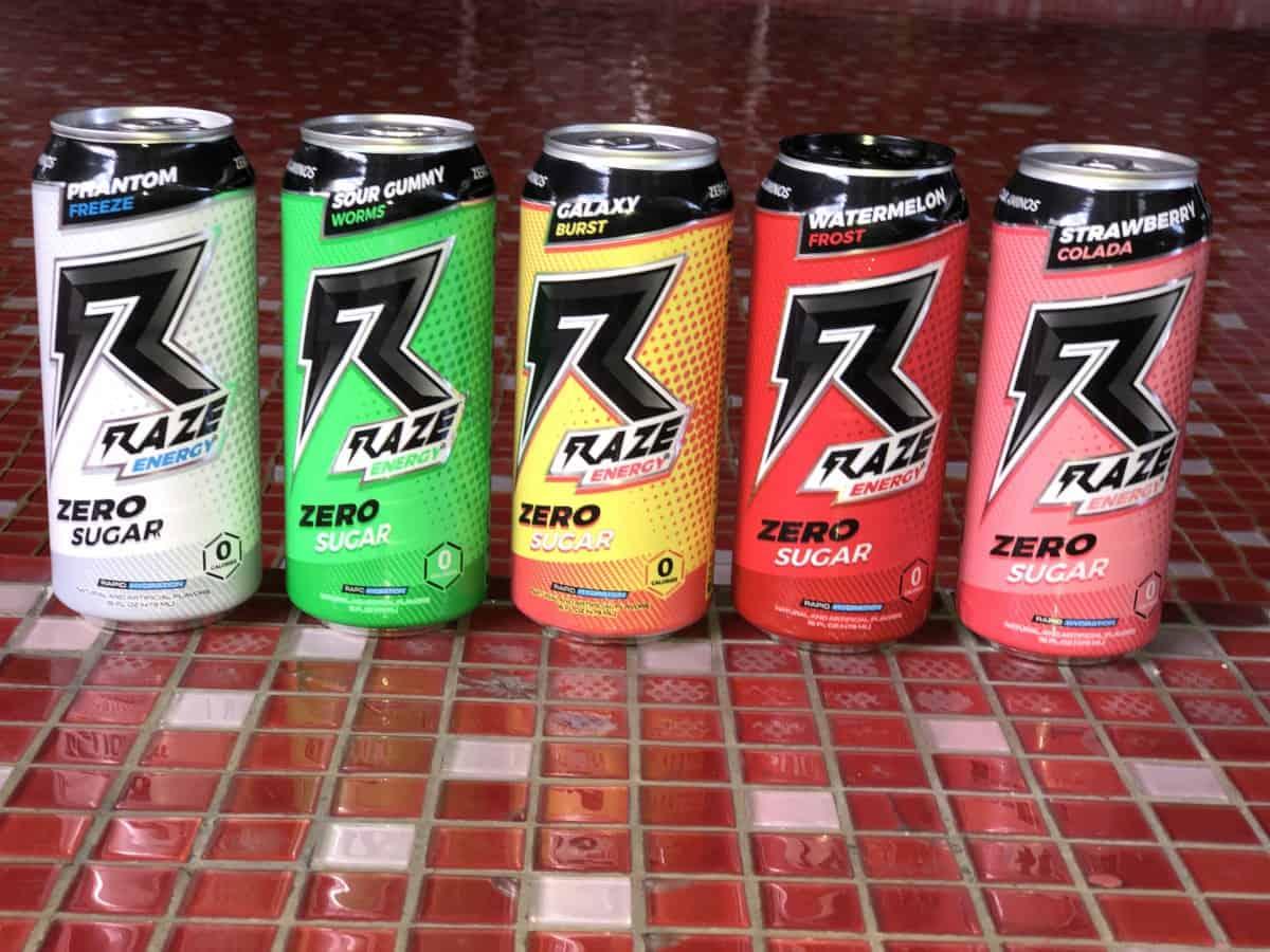 Raze energy cans