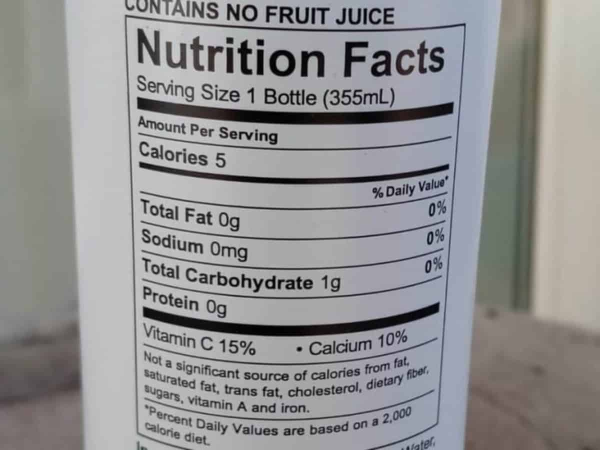 Nutritional Values of Uptime Energy Drink